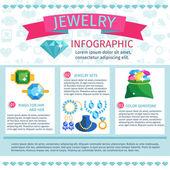 Precious Jewels Infographics — Vector de stock