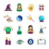 Fortune Teller Icon Flat — Stock Vector