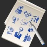 Sketchbook With Business Doodles — Stock Vector #71550001