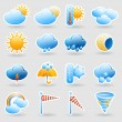 Weather forecast symbols icons set — Stock Vector #71550351