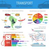 Transport infographic concept set — Stock Vector