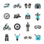 Bike Rider Flat Icons Set — Stock Vector