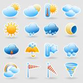 Weather forecast symbols icons set — Stock Vector