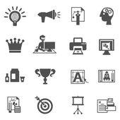 Marcas ícones preto — Vetor de Stock