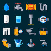 Water Supply Icons — Stock Vector