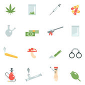 Drugs Icons Flat — Stock Vector