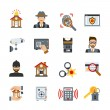 Surveillance And Security Icons Set — Stock Vector #73456817