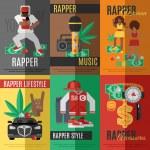 Rap Music Poster — Stock Vector #73456857