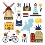 Netherlands Symbols Set — Stock Vector #73456867