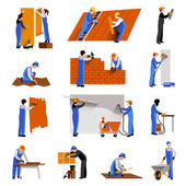 Worker Icons Set — Stock Vector