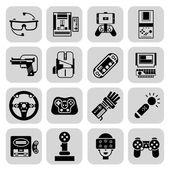 Gaming Gadgets Black — Stock Vector