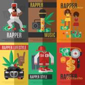 Rap Music Poster — Stock Vector