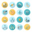 Compliance Icons Flat — Stock Vector #74008769