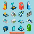 Isometric Banking Icons Set — Stock Vector #74009101