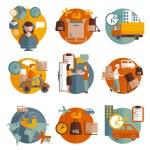 Logistics concept icons set — Stock Vector #74009675