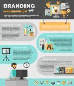 Branding Infographics Set — Wektor stockowy