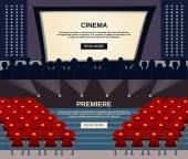 Cinema Banner Set — Stock Vector