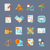 Legal Compliance Icons Set — Stock Vector