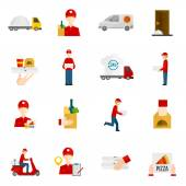Food delivery icons set — Stock Vector