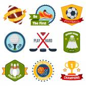 Sports Logo Set — Stock Vector
