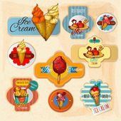 Ice Cream Labels — Stock Vector