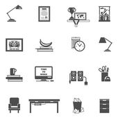 Room Interior Icons — Vector de stock