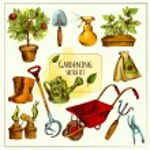 Gardening Sketch Set Colored — Stock Vector #75873697