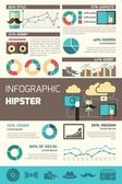 Hipster Infographics Set — Stock Vector