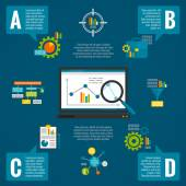 Data analytics infographic set — Stock Vector