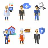 Profession Characters Set — Stock Vector