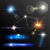 Lens Flares Set — Stock Vector