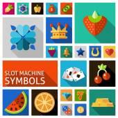 Slot machine symbols set — Stock Vector