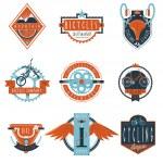Cycling club labels emblems set — Stock Vector #77156889