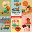 Fast Food Delivery Posters — Stock Vector #77158121