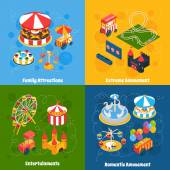 Amusement Park Isometric — 图库矢量图片