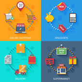 Shopping concept icons set — Stockvector