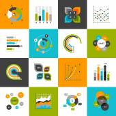 Business Charts Set — Stock Vector