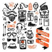 Sketch Hipster Set — Stock Vector