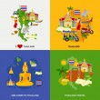 Постер, плакат: Thailand Tourism Icons Set