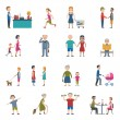 People Lifestyle Icon Set — Stock Vector #78371834