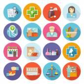 Pharmacist Icons Set — Stock Vector