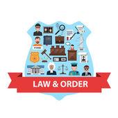 Concept de droit plat — Vecteur