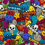 Graffiti Characters Seamless Pattern — Stock Vector #78966230