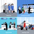 People In Airport — Stock Vector #78966800