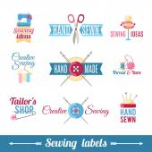 Sewing labels pictograms  collection — Stock Vector