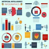 Artificial Intelligence Infographics — Stock Vector