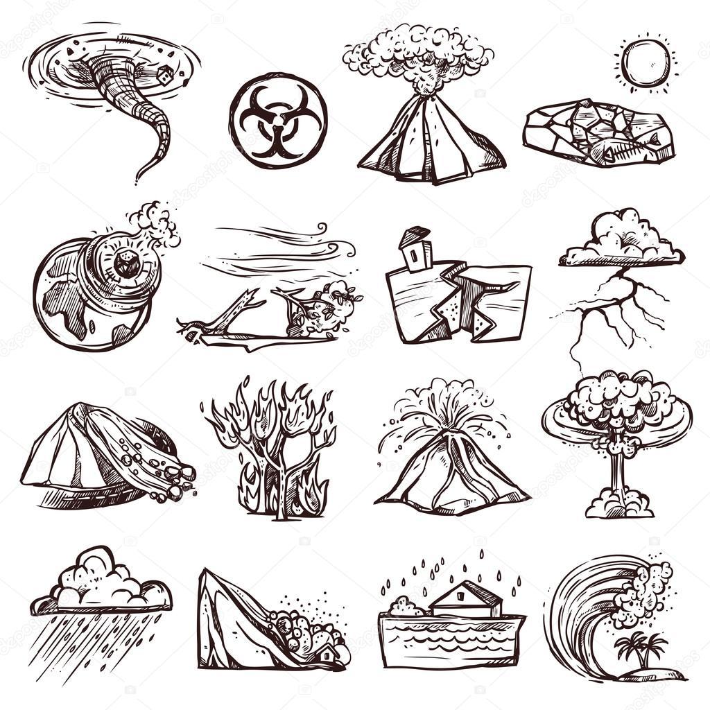 imagenes de los desastres naturales para colorear e imprimir