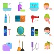 Personal care products flat icons set — Stock Vector #79988954