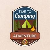 Summer Camping Emblem — Stock Vector