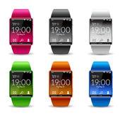 Smart Watch Icon Set — Stock Vector